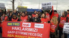 Nakliyat-İş'ten: Real Market Direnişçileri il il eylemlere devam ediyor… Bursa'da Metro Mağazasını eylem alanına çevirdiler