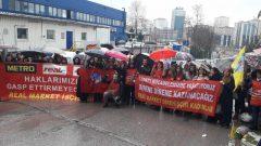 İş Hukuku Otoriteleri, Metro Group AG'ye karşı Direnişçi Real Market İşçilerini ve Nakliyat-İş Sendikası'nı doğruluyor