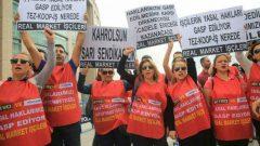 Nakliyat-İş'ten: Real Market İşçileri Hileli İflasa, haklarının gasp edilmesine, Sarı Sendikacılığa karşı direniyor, mücadele ediyor