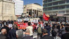 Nakliyat-İş'ten: Real Market İşçilerinin direnişi ve eylemleri devam ediyor:  Ankara'da Ulus Heykel önündeydik