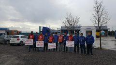 Nakliyat-İş'ten: TÜVTÜRK İstanbul Araç Muayene İstasyonlarında çalışan üyelerimizden işten atılan Reysaş İşçileri ile dayanışma eylemi