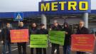 HKP'den Hamburg'da Real Market direnişine destek eylemi