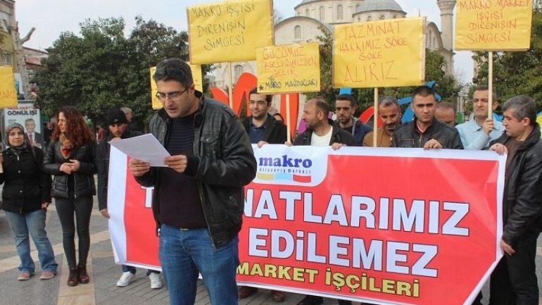 Nakliyat-İş'ten: Makro Market İşçilerinin mücadelesi sendikamız öncülüğündedevam ediyor
