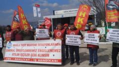 HKP, 205 gündür direnen Muğla TÜVTÜRK işçilerini ziyaret etti
