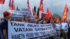 """HKP, Tank Palet Fabrikası Peşkeşine Karşı Mücadelesini Fabrika Önüne Taşıdı:  """"Tank Palet Vatandır, Satılamaz!"""""""