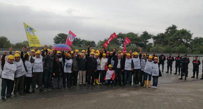 Nakliyat-İş Sendikasından; Sendikamızdan Soma Maden İşçilerine Dayanışma Ziyareti