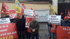 Nakliyat-İş'ten Fransa İşçi Sınıfı İle Dayanışma eylemi:  Yaşasın Uluslararası Sınıf Dayanışması!