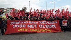 """Nakliyat-İş'ten: Sendikamıza Üye 1000'i Aşkın İşçi ve Direnişçi tek ses  """"Asgari Ücret Sefalet Ücreti Olmasın, 3,600 Net Olsun!"""""""