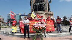 Nakliyat-İş'ten: 1 Mayıs 2020'de de Taksim 1 Mayıs Alanı'ndaydık