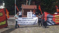 HKP İzmir İl Örgütü İzmir'in İşgalinin 101'inci Yılını Hasan Tahsin Anıtı Önünde Andı