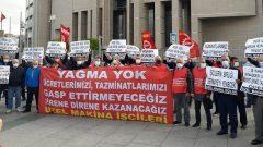 Nakliyat-İş'ten:Uzel Makine İşçileri, İstanbul Çağlayan Adliyesinde  Ücret ve Tazminat Alacaklarının öncelikli olarak ödenmesi için  İcra Müdürlüğüne dilekçe verdiler