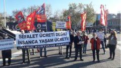 AKP'giller'in, Parababalarının ve Sarı Sendikacıların İşçi Sınıfına hayâsızca reva gördükleri Sefalet Ücretini ve Kadın Cinayetlerini Kadıköy'de protesto ettik!