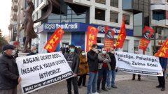 HKP İzmir İl Örgütü olarak 2021 yılında yapılan zamları ve Asgari Ücreti protesto ettik