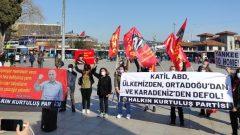 """HKP'den: """"Katil ABD'nin savaş gemilerinin Boğazlar'ımızdan geçişini protesto ettik!"""""""