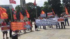 """ABD Emperyalistlerinin ve işbirlikçileri AKP'giller'in  """"Kanal İstanbul"""" adını verdikleri  """"Talan İstanbul"""" İhanetini Beşiktaş'ta protesto ettik!"""